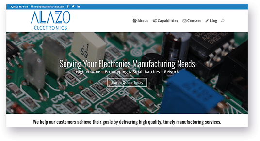 Allazo Electronics Website Design from JSL Marketing