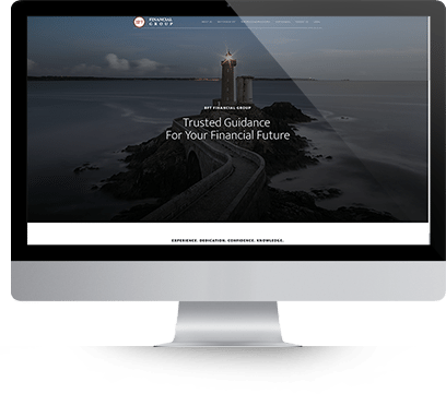 Website Design for BFT Financial on Desktop