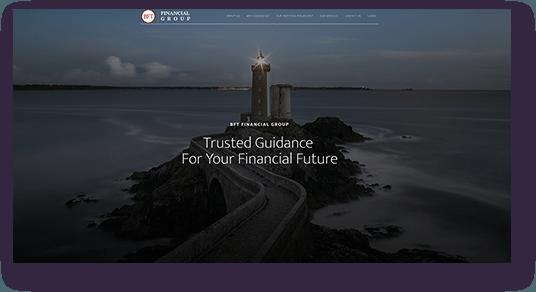 Website Design for BFT Financial homepage