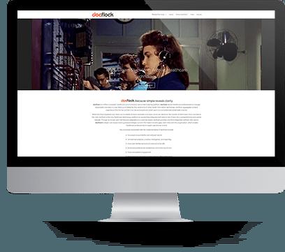 Docflock Website design Desktop Screenshot