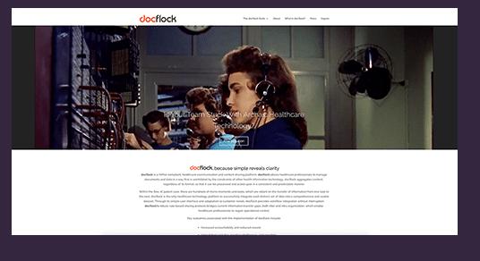 Docflock Website design screenshot