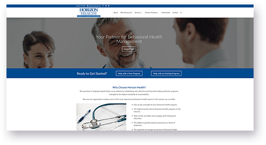 Website Design for Horizon Health image of doctors