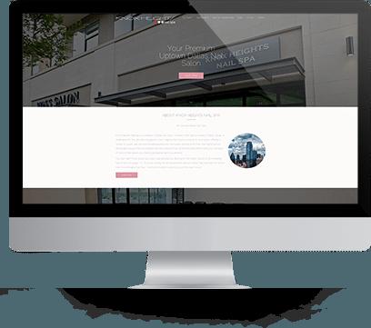 Website Design for Knox Nail Spa on desktop