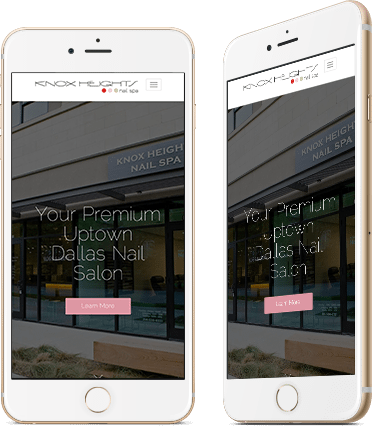 Website Design for Knox Nail Spa on Mobile