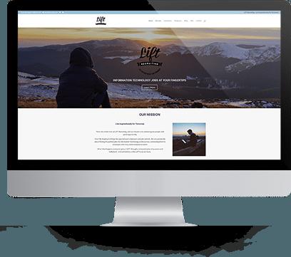 Lift Website Design Screenshot