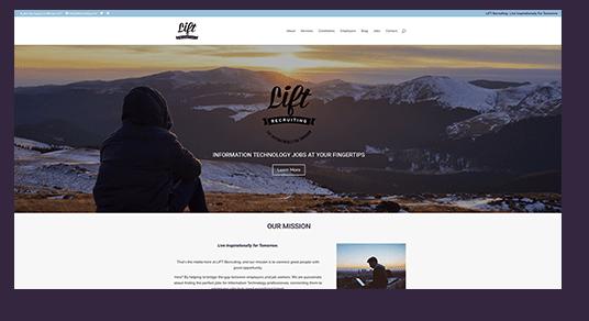 Lift Website Design homepage screenshot