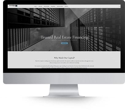 Website Design for MarkOne Capital Screenshot