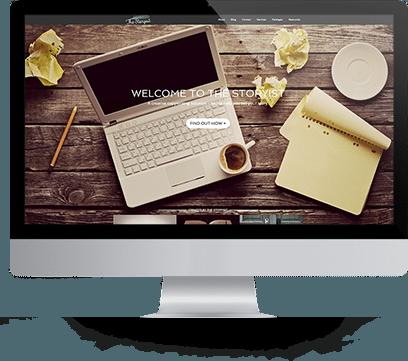 Website Design for The Storyist on a desktop
