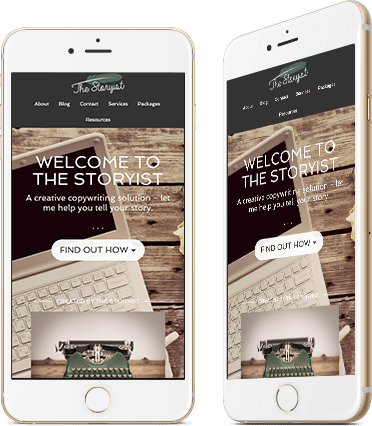 Website Design for The Storyist on a mobile device