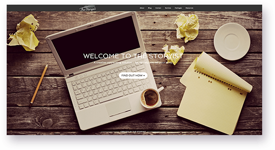 Website Design for The Storyist homepage