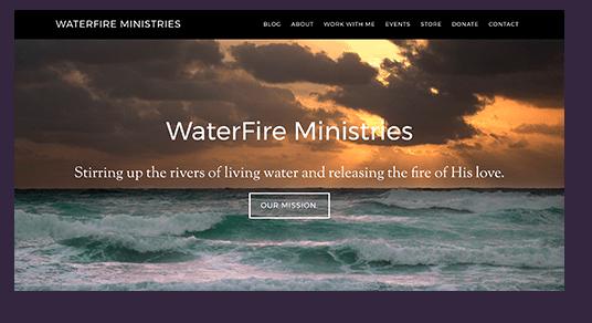 Waterfire Ministries Desktop Homepage Screenshot