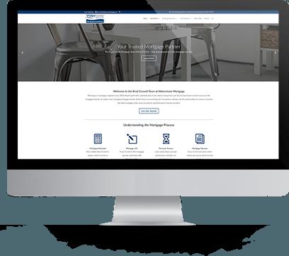 Website Design for Waterstone Screenshot on Desktop