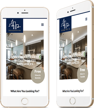 Dallas Apartment Finder on Mobile