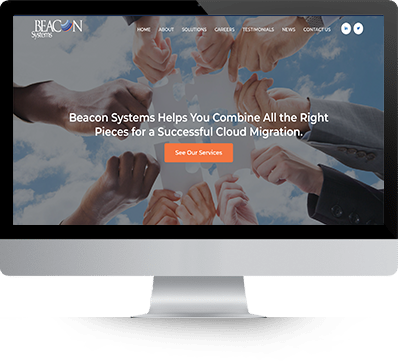 beacon System Website Design desktop screenshot