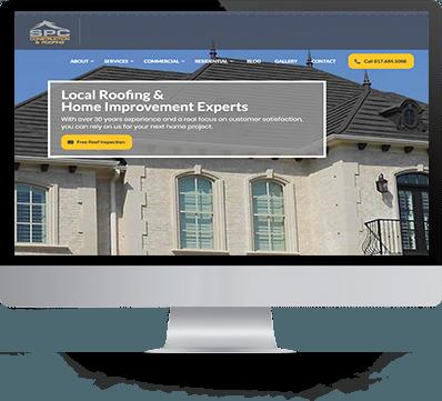 SPC Construction and Roofing Website desktop website