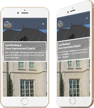 SPC Construction and Roofing Mobile Website