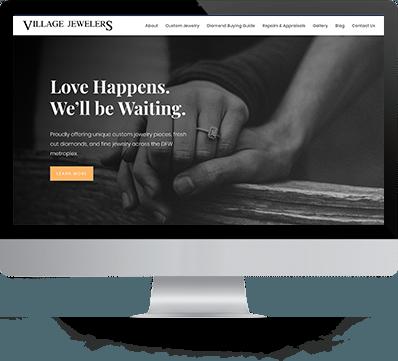 Village Jewelers Website Design desktop
