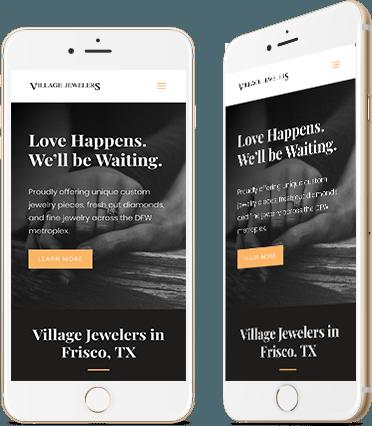Village Jewelers Website Design Mobile