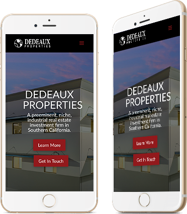 DeDeaux Properties Mobile Screenshot