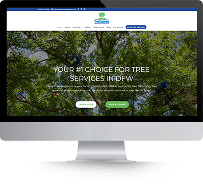 Texas Tree Surgeons desktop screenshot