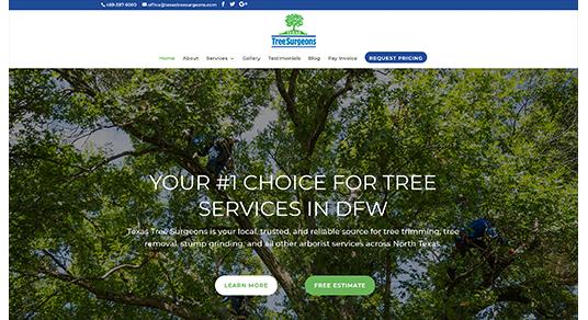 Texas Tree Surgeons screenshot