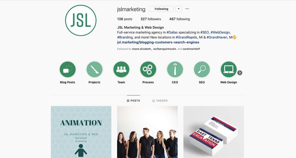 JSL Instagram Screenshot