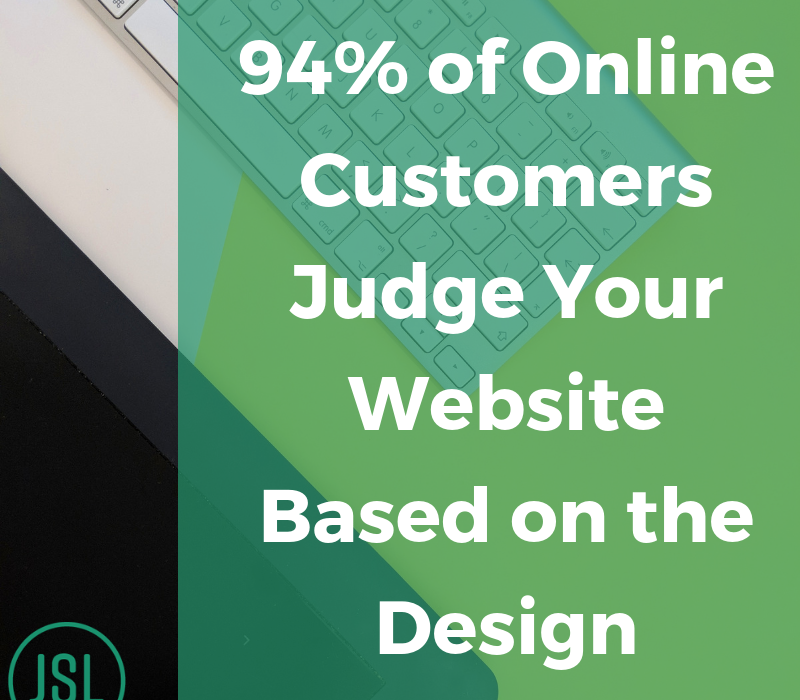 Customers judge your website graphic