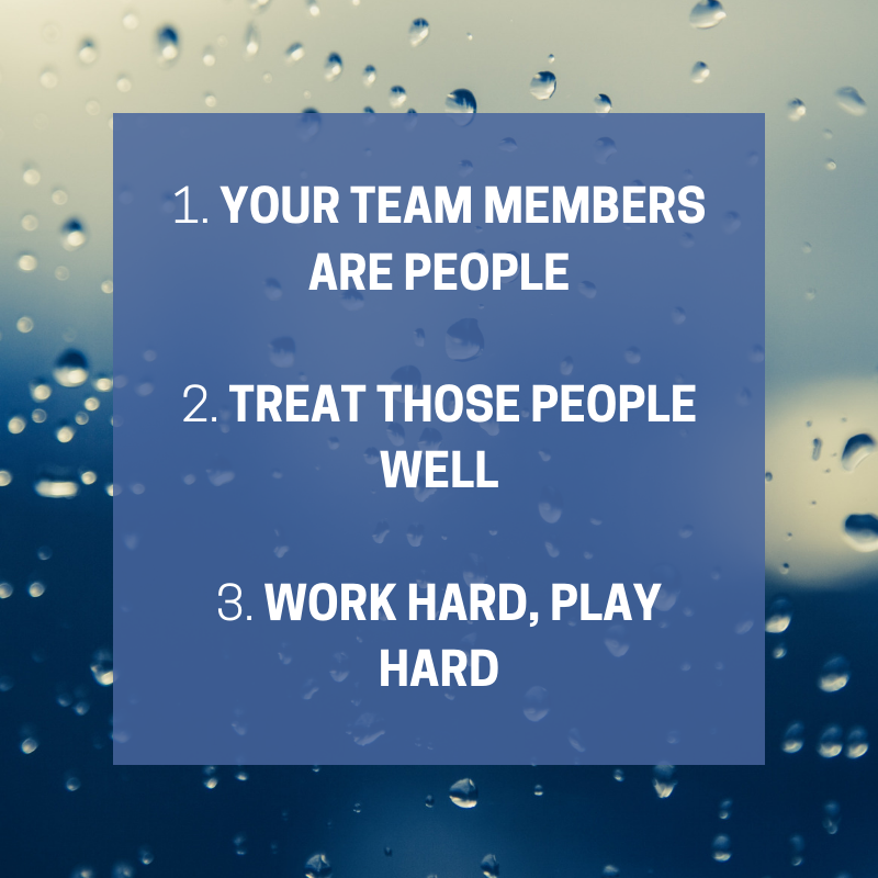 3 tips for good company culture graphic