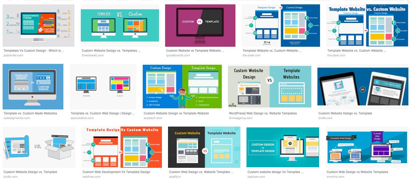 web design template options