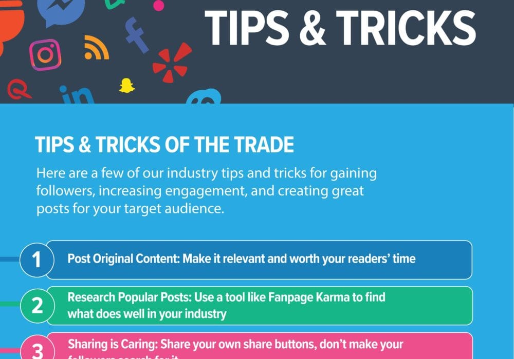 Social Media Tips and Tricks infographic