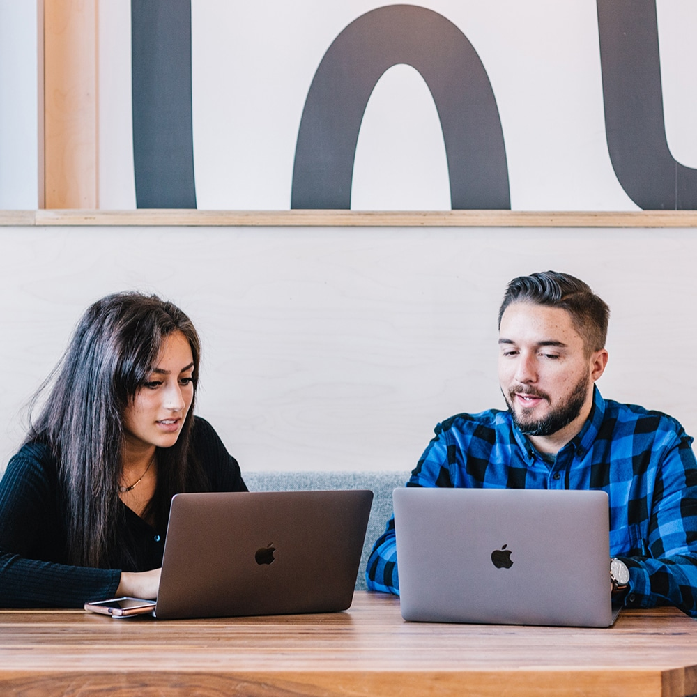 Team members working on digital marketing in Dallas