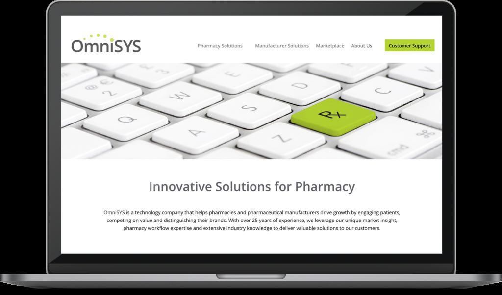 omnisys Web design project on a desktop