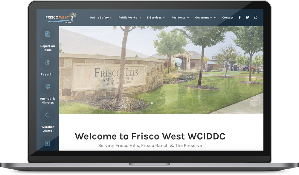 Frisco West Website Design Project on a laptop