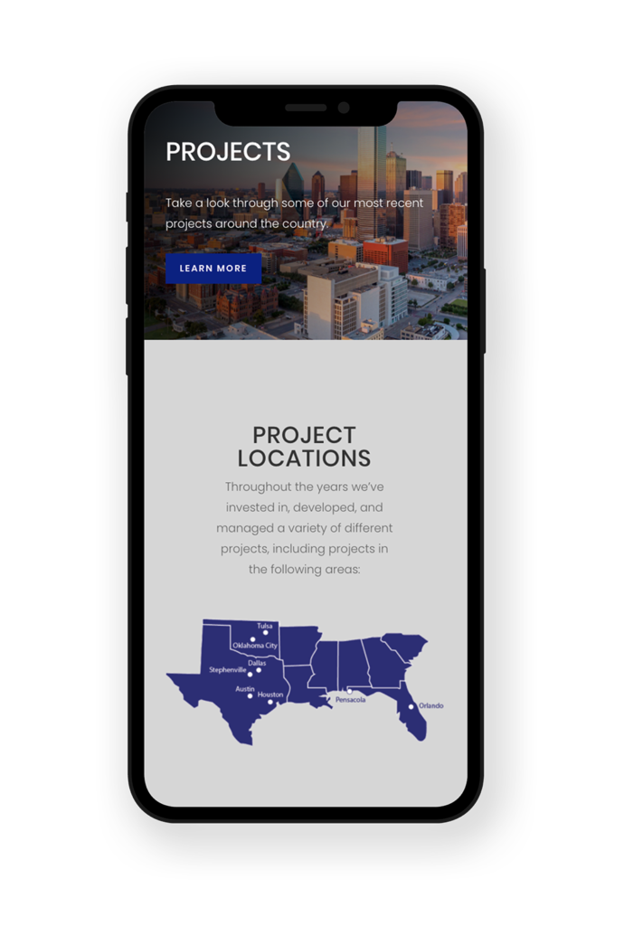 Marquis Group mobile friendly web design