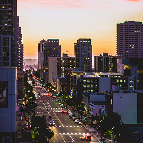 San Diego Cityscape at Dusk