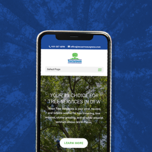 Texas tree surgeons mobile-friendly web design project