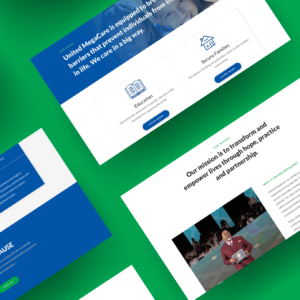 United Megacare web design mockup