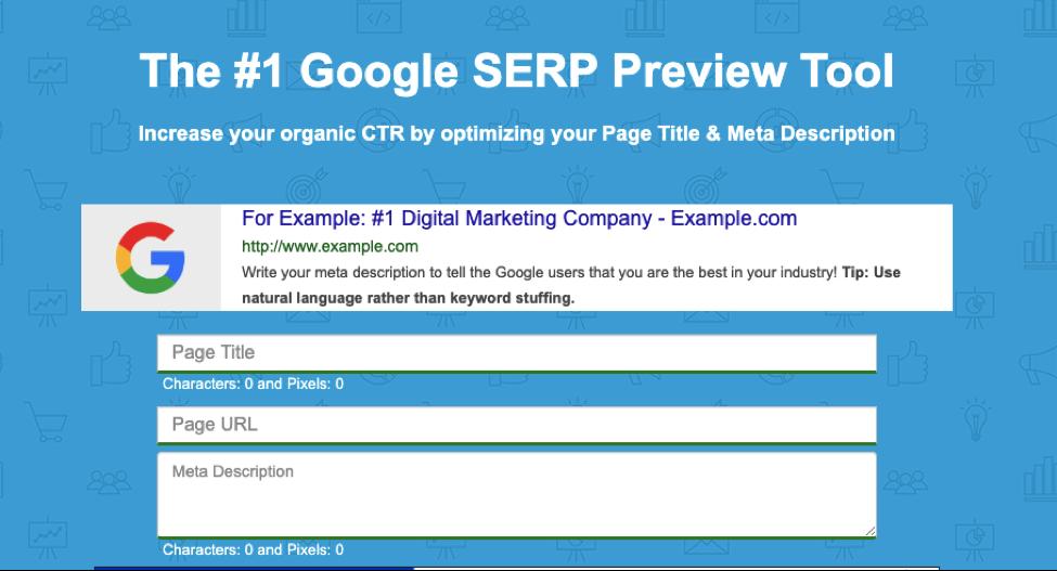 SERP Preview screenshot