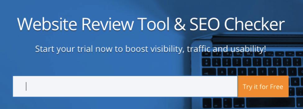 Woorank SEO tool check screenshot