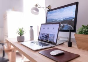 Digital marketing Project on a desktop computer