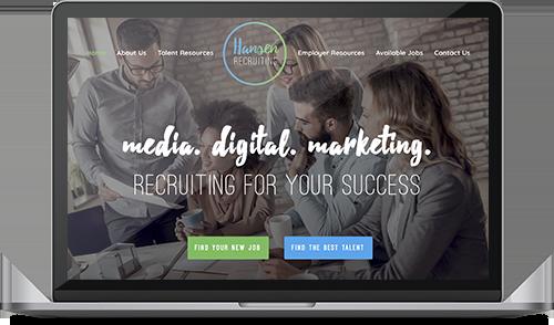 Macbook Design Mockup Hansen Recruiting