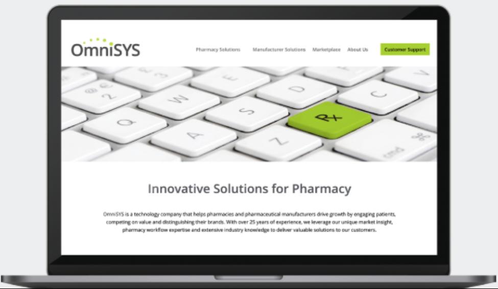 OmniSYS website Design screenshot