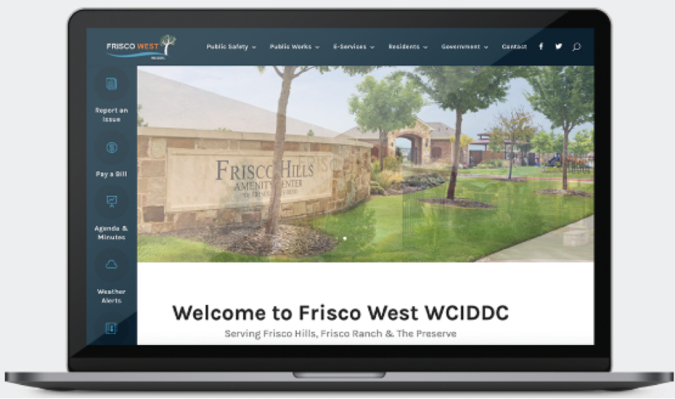 Frisco West Website Design Screenshot
