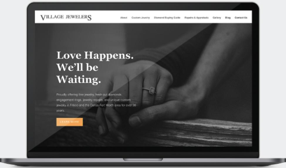 Village Jewelers Website design screenshot