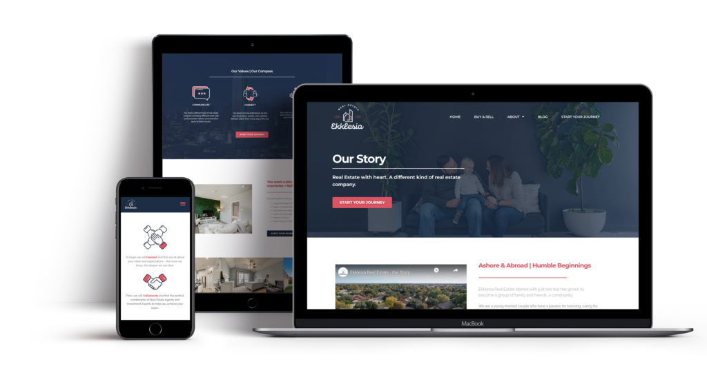 Ekklesia Real Estate new website mockup