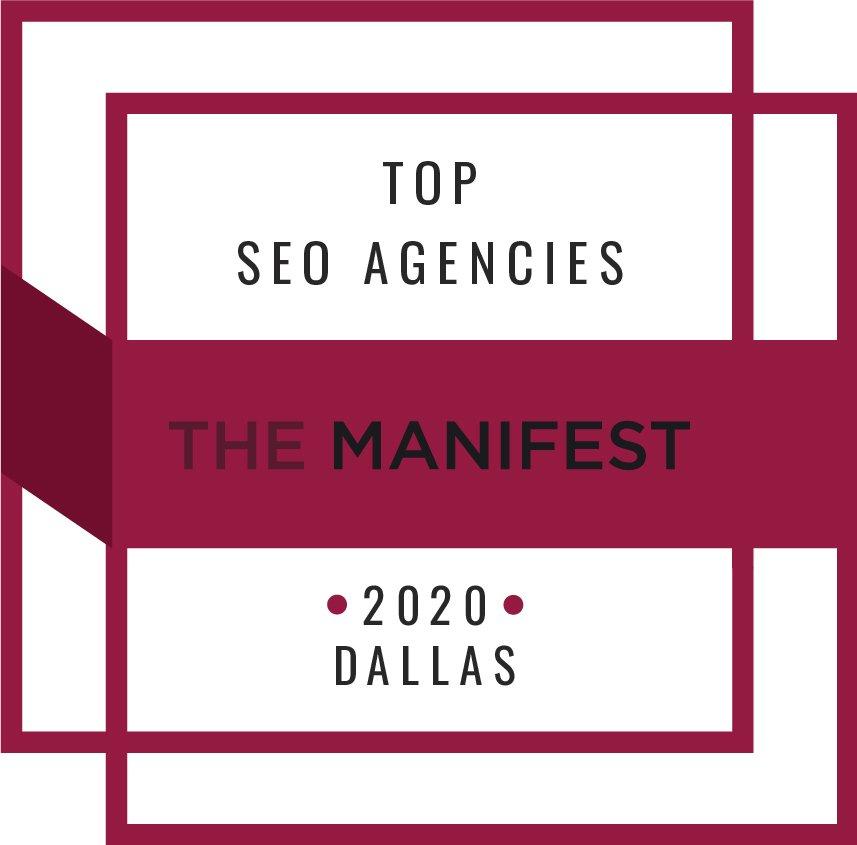 The manifest top SEO agencies in dallas badge