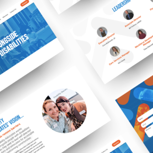 Disability Advocates web design flat lay