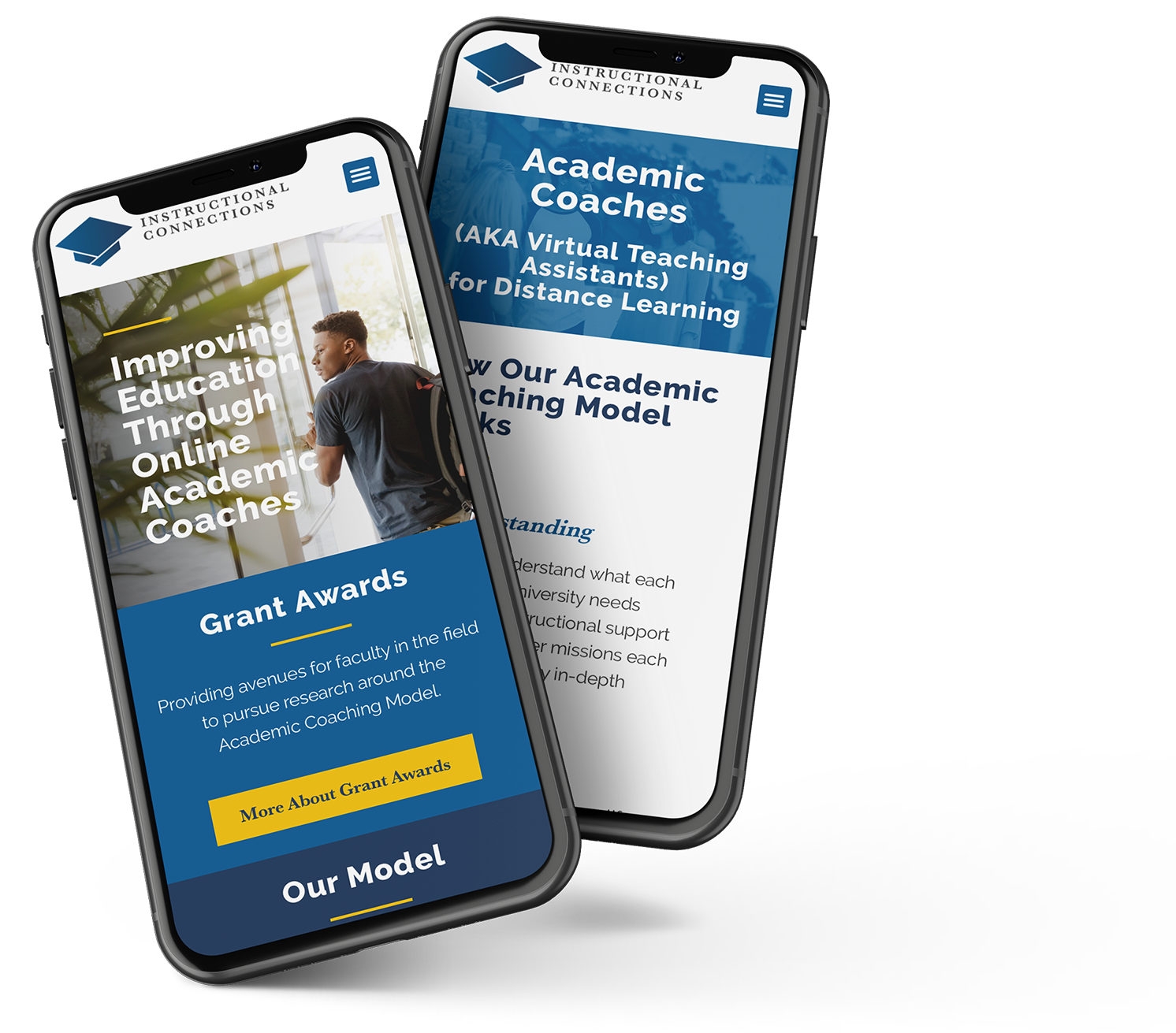 Mobile website design for Instructional Connections