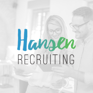 Hansen Recruiting logo with team members