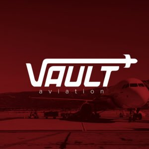 Vault Aviation graphic design project